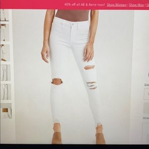 AE white ripped jeans